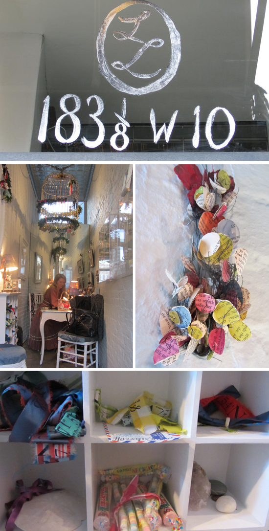 Laura Lobdell shop interior collage