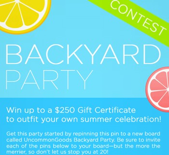 Backyard Party Pinterest Contest