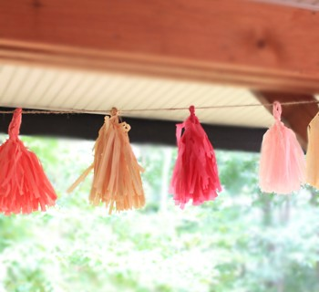 Baby Shower Decor: DIY Tassel Garlands