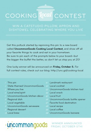 Cooking Local Contest | UncommonGoods