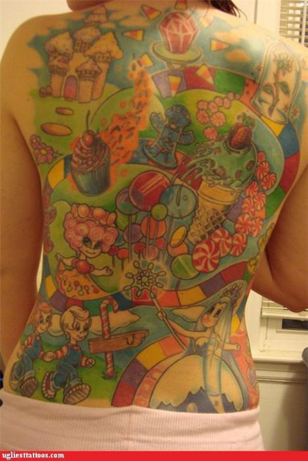 Candy-themed tattoos