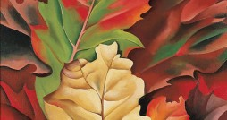 "Georgia O'Keeffe, ""Autumn Leaves, Lake George, N.Y."" (1924)"
