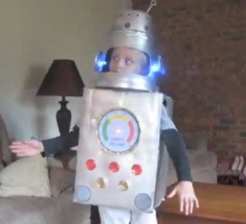 Rich & Sam's MaKey MaKey Robot Costume