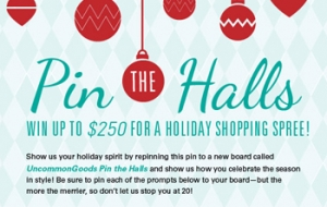 Pin the Halls Holiday Pinterest Contest