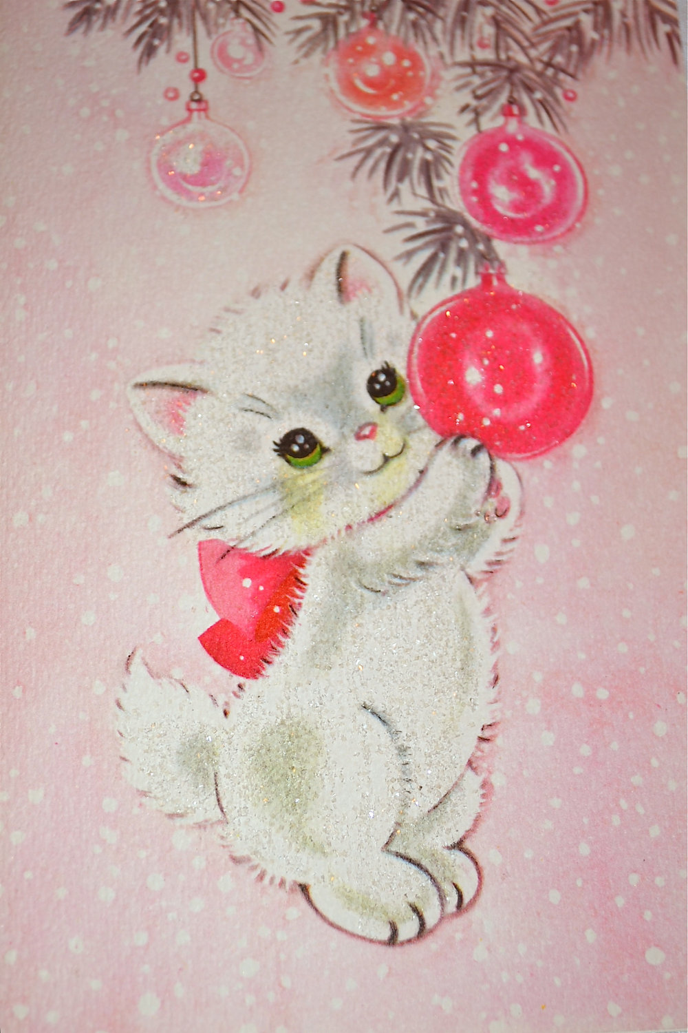 Christmas kitten card, photo by Etsy seller pumpkintruck