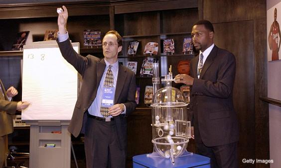 NBA Draft with Ping-Pong Balls, image via Getty