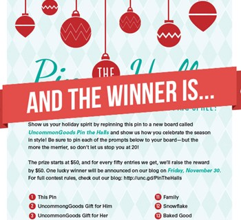 Our Pin the Halls Pinterest Contest Winner (Plus some Holiday Party Pinspiration!)