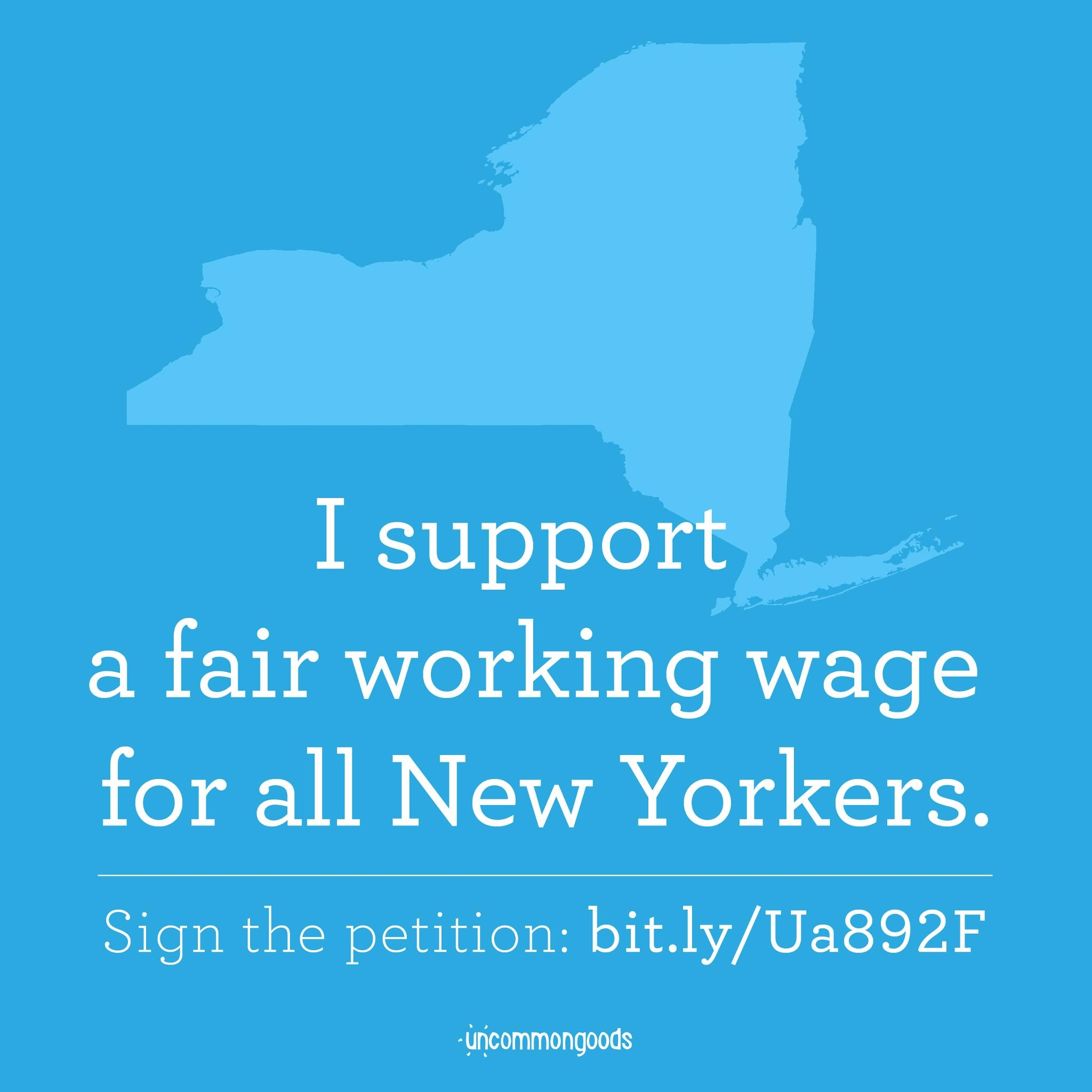 I Support a Fair Wage for All New Yorkers