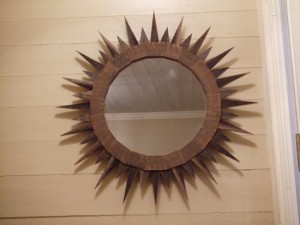 Barn Wood Large Sun Mirror by Beau Lyday | UncommonGoods