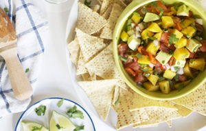 Mango Ginger Salsa by Colleen of Inspired to Share