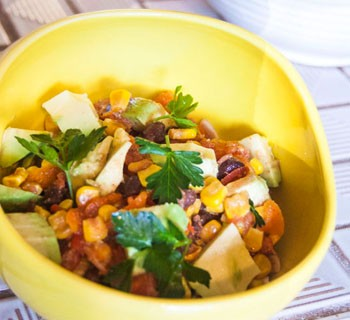Summer Salsa with Roasted Corn by Bonnie of Going Home To Roost