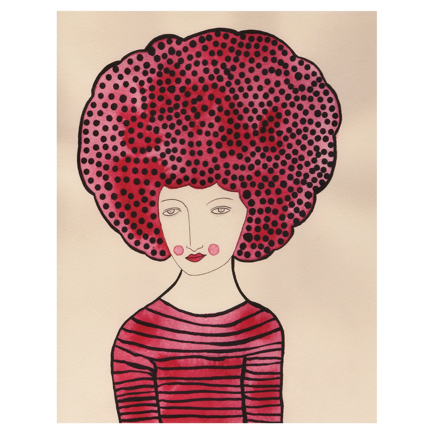 Shocking Pink Afro | UncommonGoods