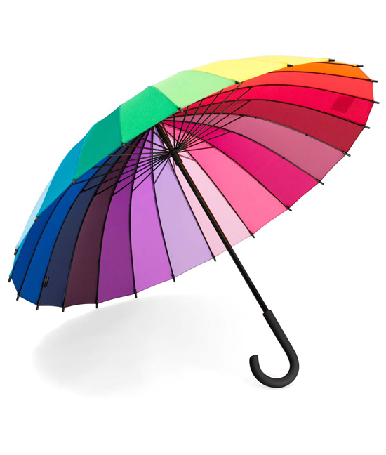Color Wheel Stick Umbrella | UncommonGoods