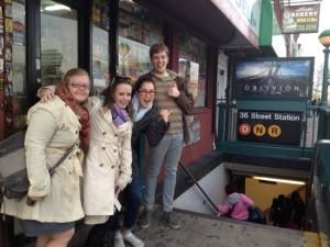 Cassie Abi Rachel and Jason walk to the subway | UncommonGoods