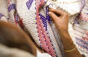 making Kantha, image via Desh Crafts