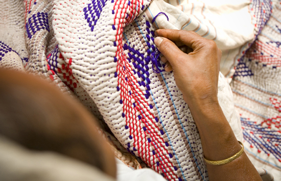 making Kantha, image via Desh Crafts