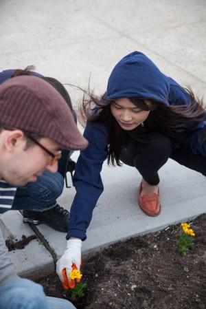 UG employees planting flowers | UncommonGoods