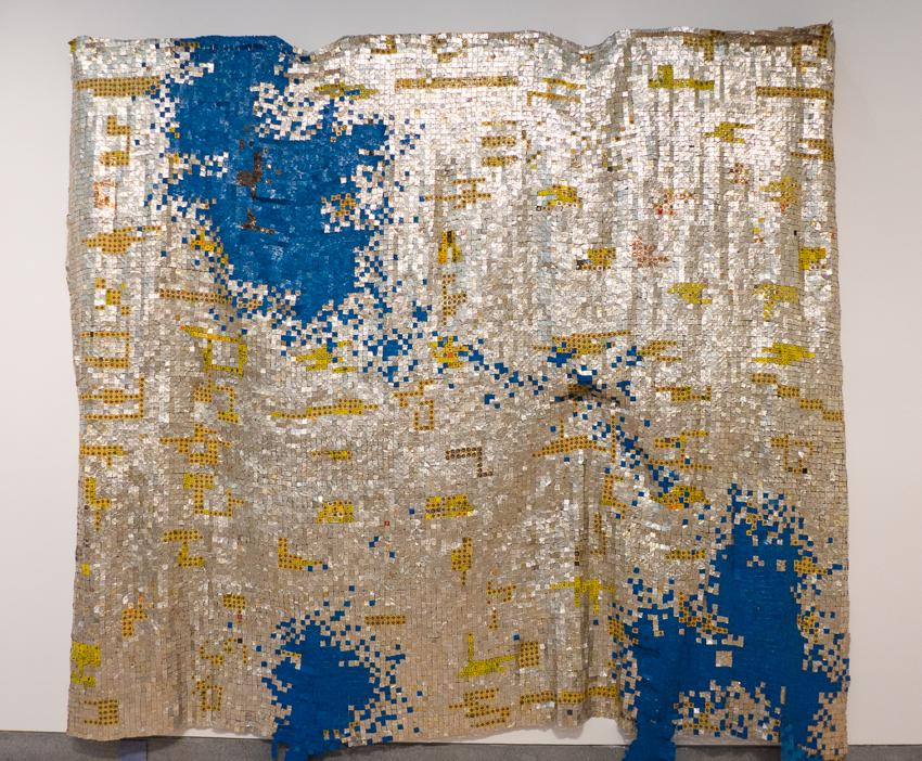 El Anatsui, Ink Splash, photo by Aaron Bunge