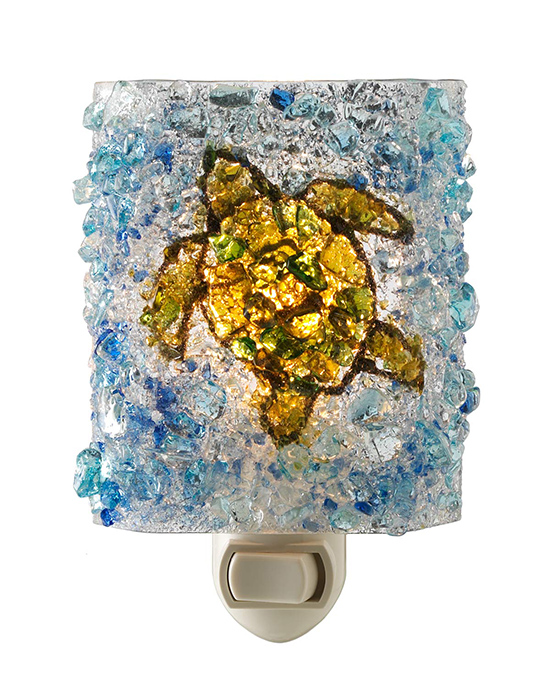 Recycled Glass Turtle Night Light | UncommonGoods