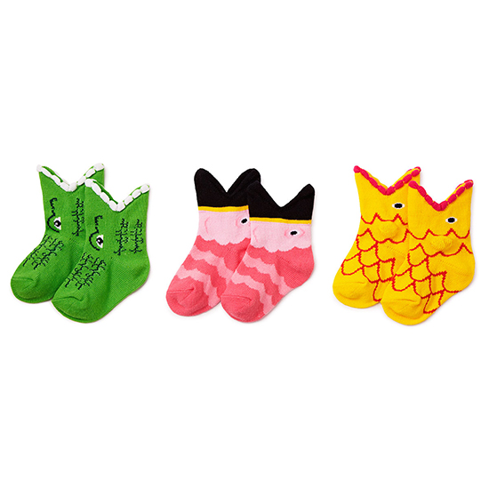 Tropical Trio Baby Socks | UncommonGoods