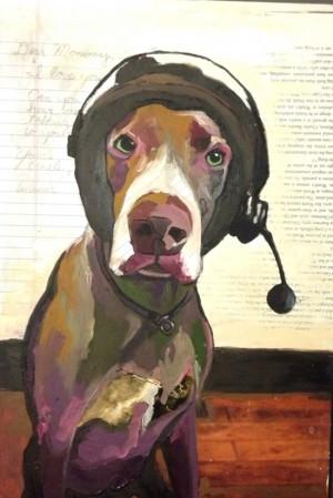 Painting of Winnie the dog by Karen Jones | UncommonGoods