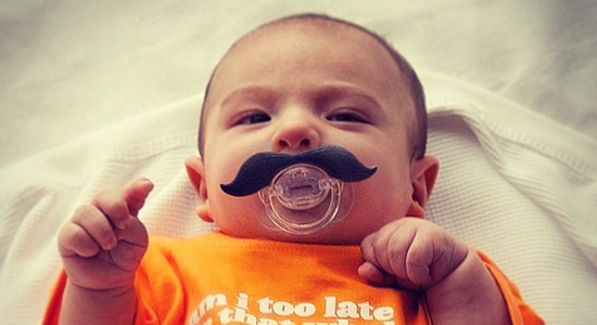 Babies with 'staches | UncommonGoods