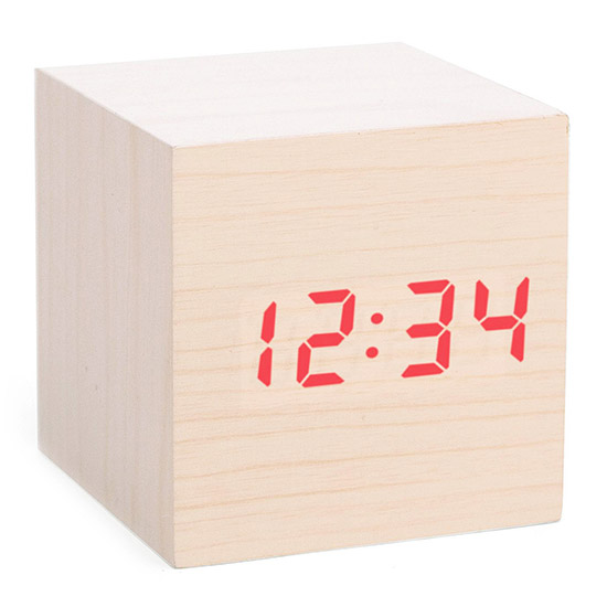 Cube LED Alarm Clock | UncommonGoods