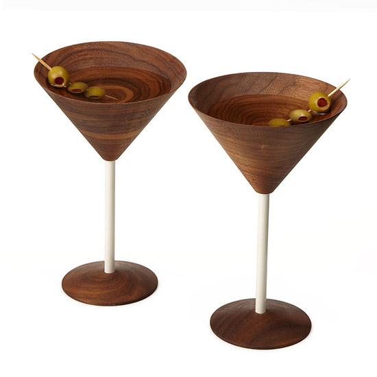 Wooden Martini Glasses | UncommonGoods
