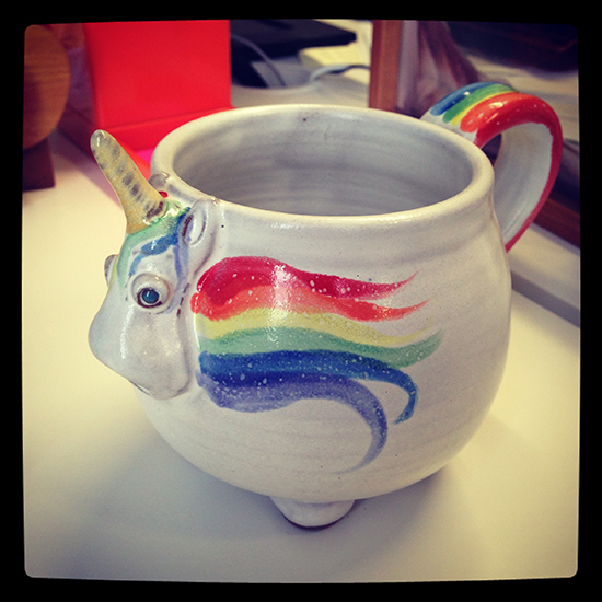 Elwood the Rainbow Unicorn Mug! | UncommonGoods