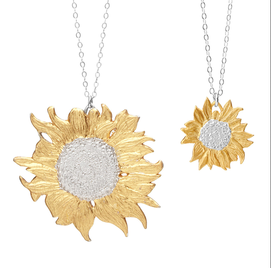 Eileen's Golden Sunflower Necklaces| UncommonGoods