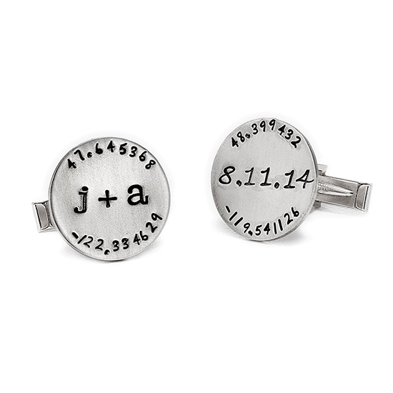 Custom Latitude Longitude Cufflinks | UncommonGoods