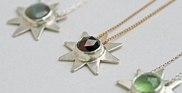 Natha's Eight Pointed Star Necklace Shines Bright