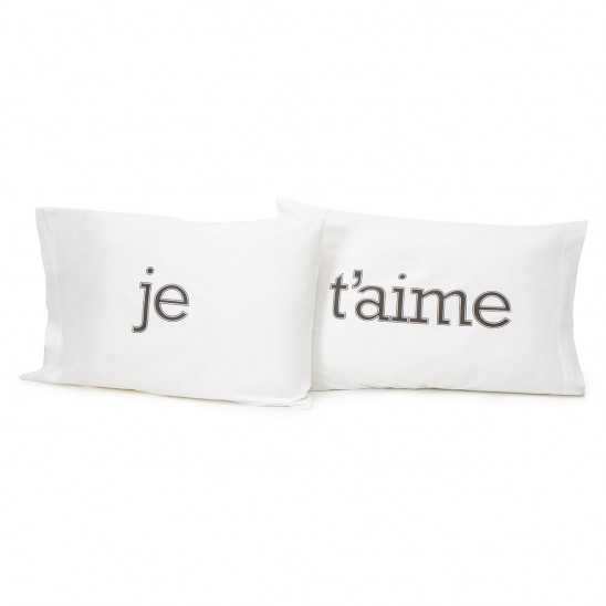 Je T'aime Pillow Case | UncommonGoods
