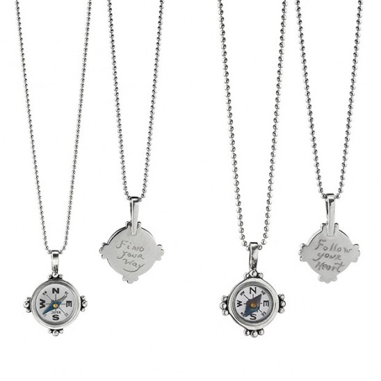 Hand Engraved Compass Necklaces by Kevin & Deborah Healy| UnommonGoods