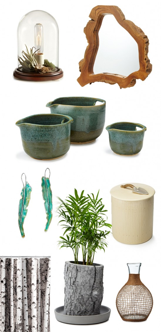Earth-inpsired home decor & jewelry | moodboard | UncommonGoods