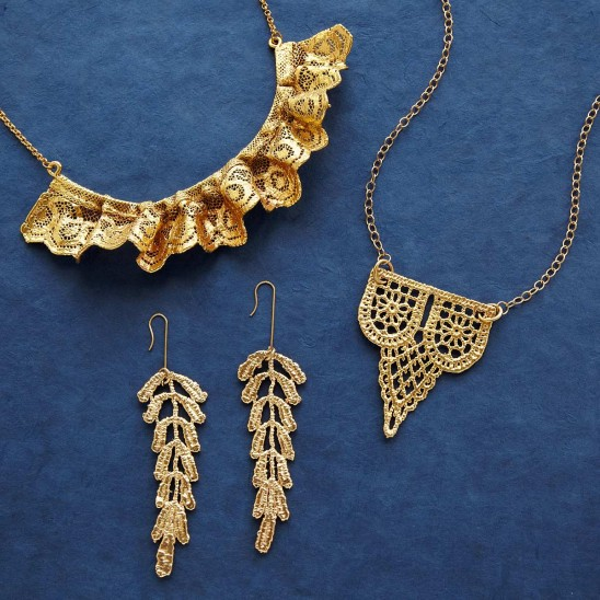 Dipped Lace Jewelry