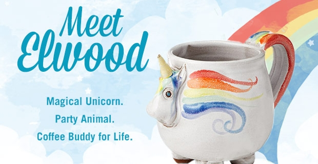 Adopt a Unicorn–Elwood the Rainbow Unicorn Mug!