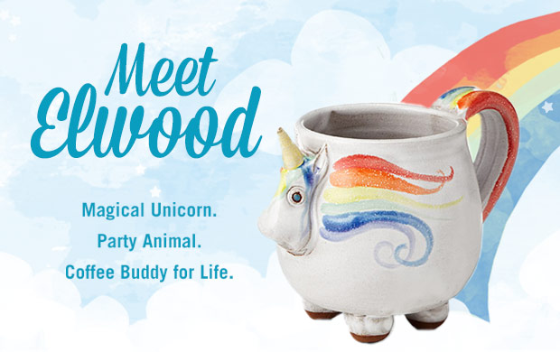 Elwood the Rainbow Unicorn Mug | UncommonGoods