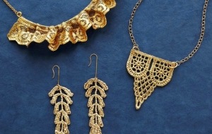Pre-Columbian Craft Shines in Dipped Lace Jewelry Designs