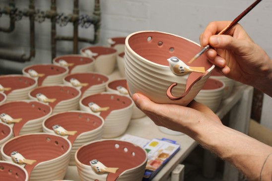 Painting the Birdie Bowl | UncommonGoods