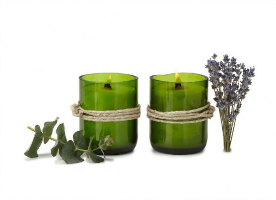 Recycled Wine Bottle Candles | UncommonGoods