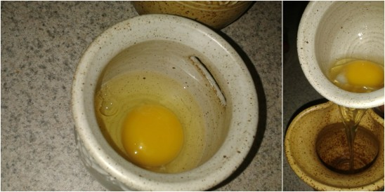 Separate eggs easily | Stoneware egg separator