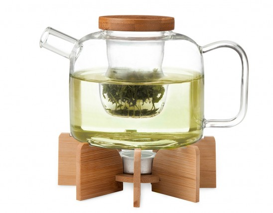 Glass Teapot with Stand | UncommonGoods