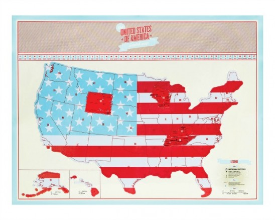 USA Scratch Map | UncommonGoods