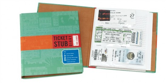 Ticket Stub Diary | UncommonGoods