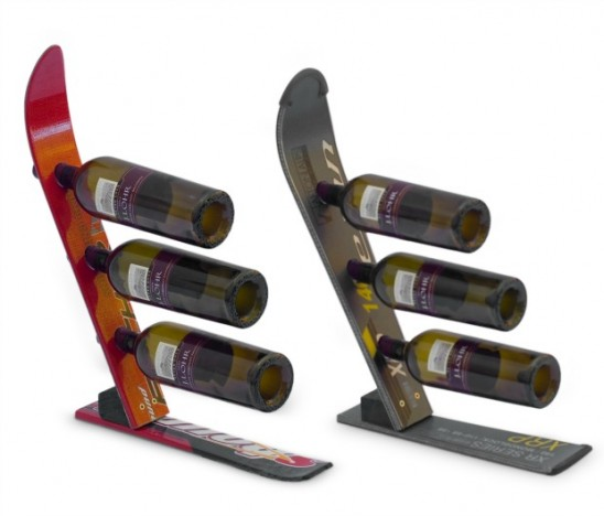 Snow Ski Wine Rack | UncommonGoods