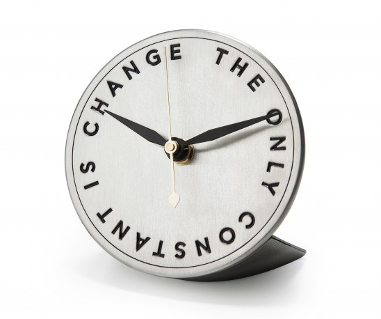 The Only Constant is Change Desk Clock | UncommonGoods