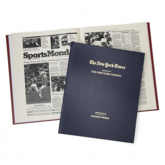 New York Times Personalized Sports Book | UncommonGoods