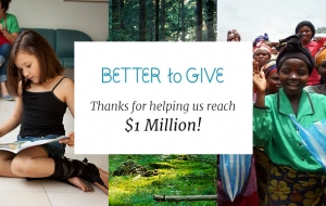 Better to Give: Thanks A Million!