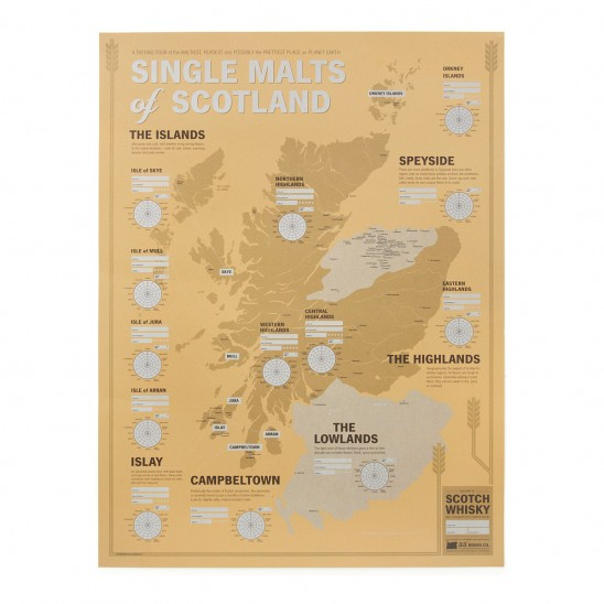 Single Malts of Scotland Tasting Map | UncommonGoods